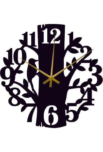 Hediyelikevi Ahşap Ağaçkakan Temalı Duvar Saati