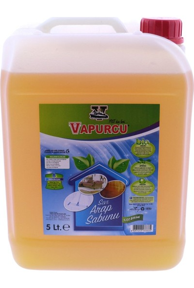 Vapurcu Sıvı Arap Sabunu 5 kg