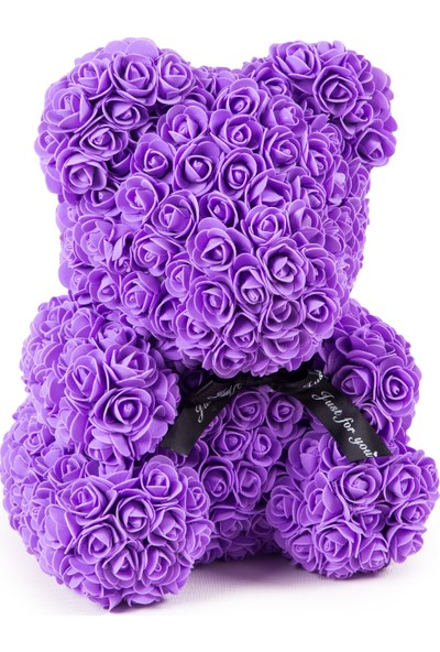 Solenzara Flowers Teddy Rose Lila Güllü Solmayan Gül 40 cm