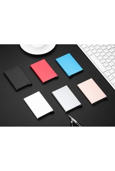 Avp Otomatik Mekanizmalı Metal Kredi Kartlık Kartvizitlik - Siyah Renk