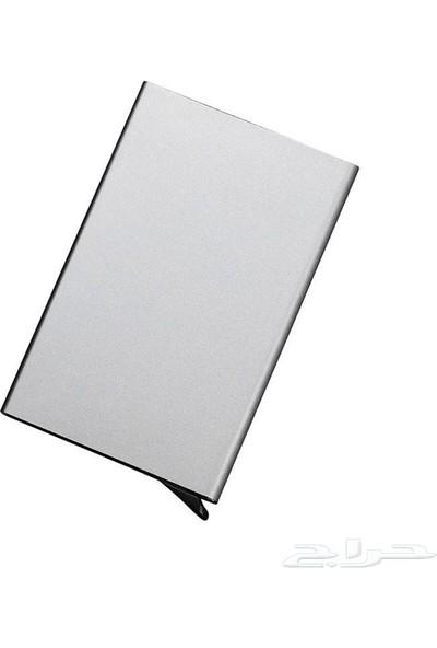 Avp Otomatik Mekanizmalı Metal Kredi Kartlık Kartvizitlik - Gümüş Renk