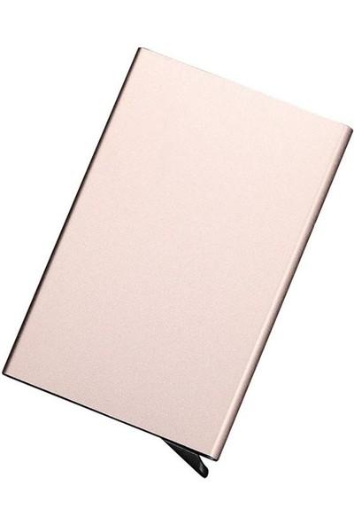 Avp Otomatik Mekanizmalı Metal Kredi Kartlık Kartvizitlik - Gold Renk
