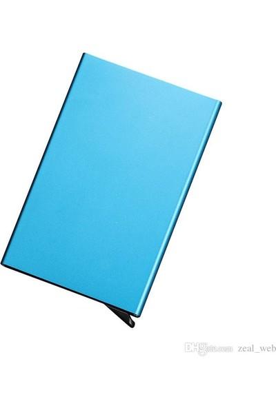 Avp Otomatik Mekanizmalı Metal Kredi Kartlık Kartvizitlik - Blue Renk