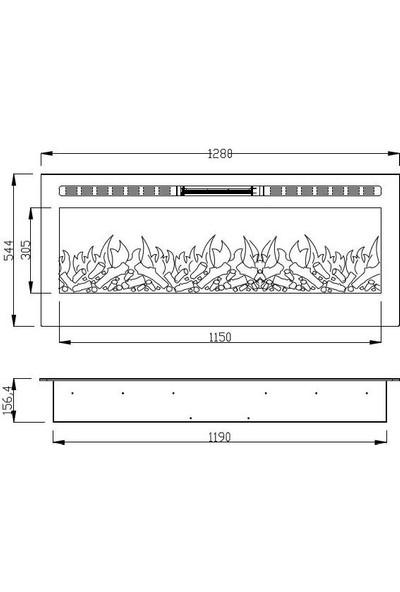 Boge Plazma Elektrikli Şömine 128 cm