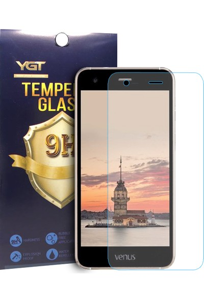Aktif Aksesuar Vestel Venüs V3 5010 Temperli Cam Ekran Koruyucu Şeffaf