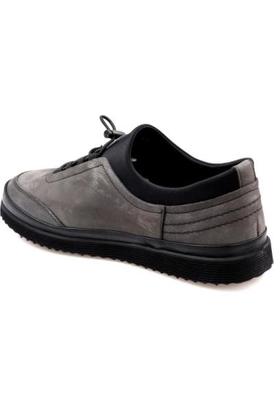 Goes 716 Eva Taban Gri Günlük Erkek Deri Nubuk Ayakkabı