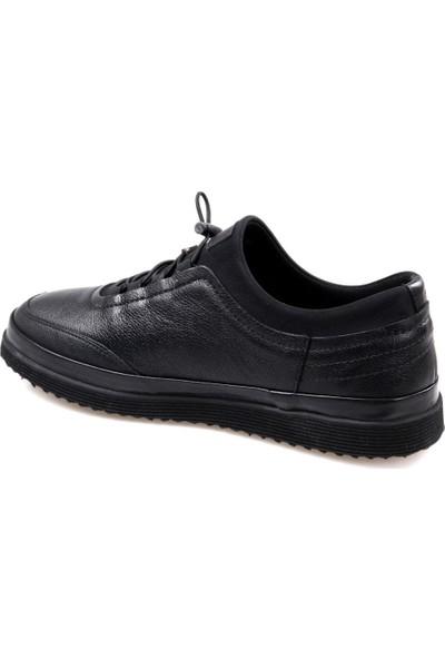 Goes 716 Eva Taban Siyah Günlük Erkek Deri Ayakkabı
