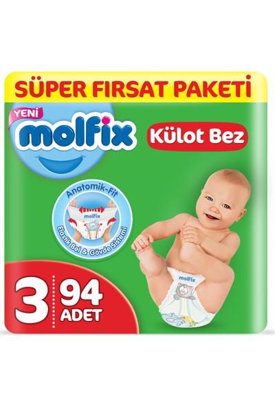 Molfix Külot Bez 3 Beden Midi Süper Fırsat Paketi 94 Adet