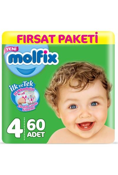 Molfix Bebek Bezi 4 Beden Maxi Fırsat Paketi 60 Adet
