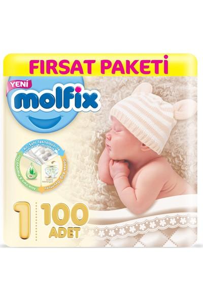 Molfix Bebek Bezi 1 Beden Yenidoğan Fırsat Paketi 100 Adet