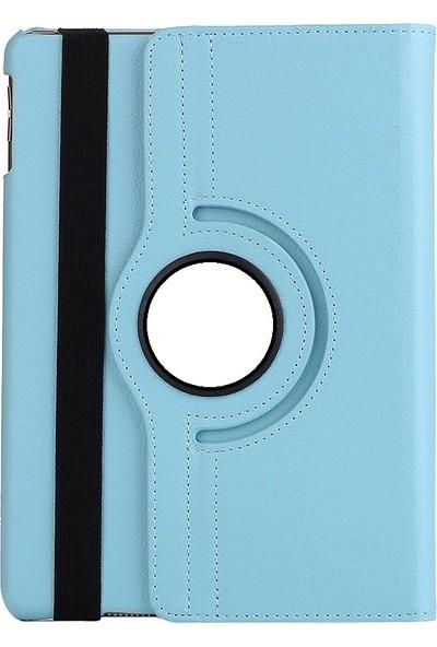 EssLeena Samsung Tab 3 Lite Sm-T110/T111/T113/T116 7 İnç 360 Derece Dönebilen Kılıf Turkuaz