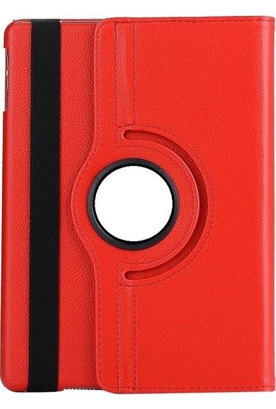 EssLeena Samsung Galaxy Tab A6 Sm-T580/T585/T587 10.1 İnç 360 Derece Dönebilen Kılıf (Kalemsiz Model) Kırmızı