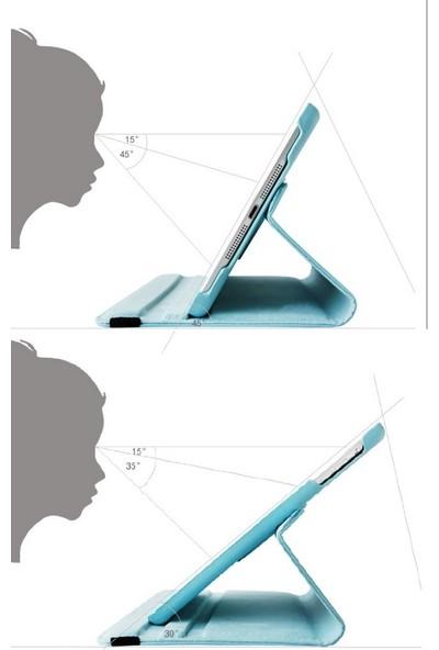 EssLeena Samsung Galaxy Tab A Sm-T510/T515/T517 10.1 İnç Powers 360 Derece Dönebilen Tablet Kılıfı Turkuaz