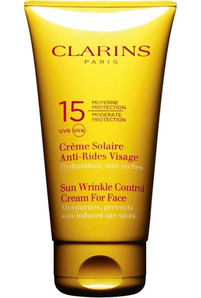 Clarins Sun Wrinkle Control For Face Protection Uvb SPF15 75ml.