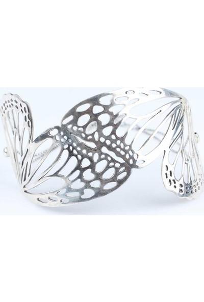 Nusret Takı 925 Ayar Gümüş Kelebek Bilezik
