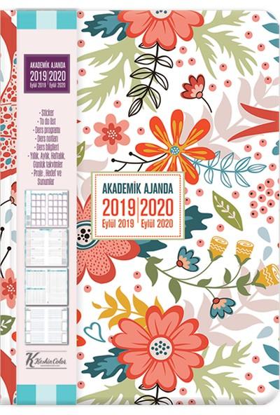 Keskin Color Akademik Ajanda Modern Çiçek