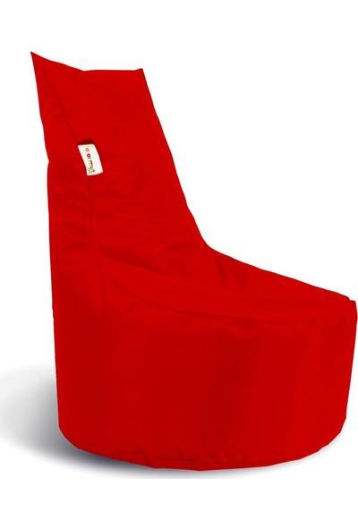 Earmut Armut Koltuk Baton Model Su Geçirmez Kumaş Kırmızı