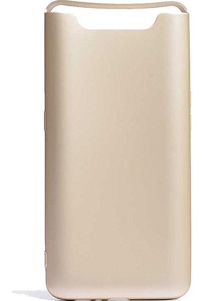 CoverZone Samsung Galaxy A80 Kılıf Premier Silikon Altın - PRE150