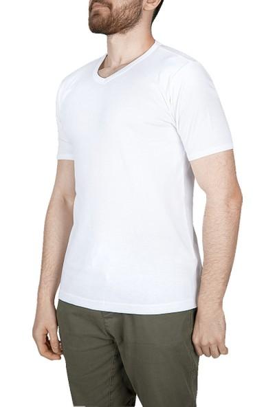 Lescon 18S-1244-18N Beyaz Erkek T-Shirt