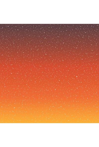 Henge Turuncu Ombre Desenli Benekli Duş Perdesi