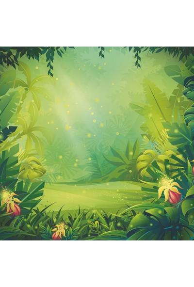 Henge Çocuklar İçin Orman Desenli Duşperdesi