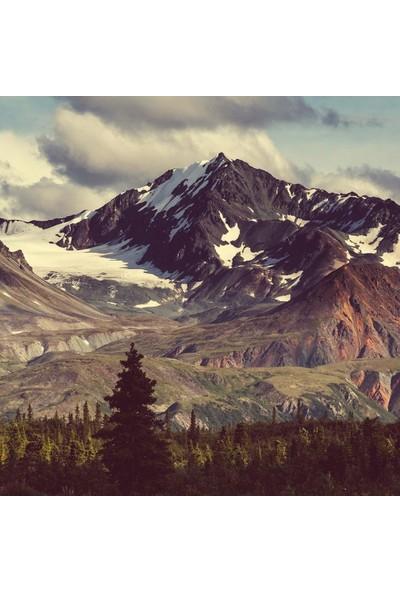 Henge Dağ Manzaralı Kar Deseni Duşperdesi