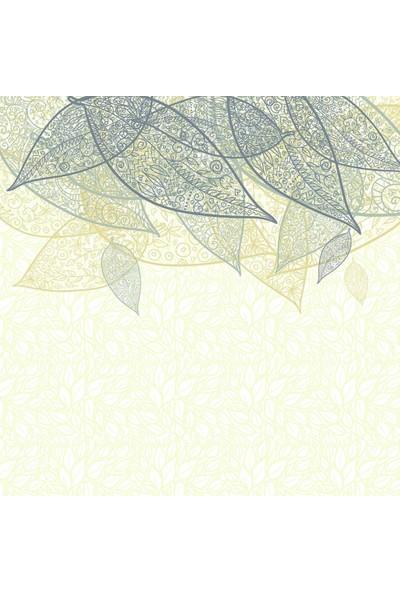 Henge Etnik Çiçek Desenli Sarı Yeşil Duşperdesi
