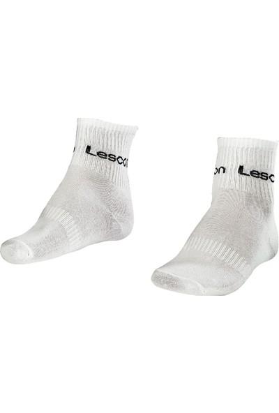 Lescon La-2181 Beyaz 2'li Tenis Çorap Kısa 40-45 Numara