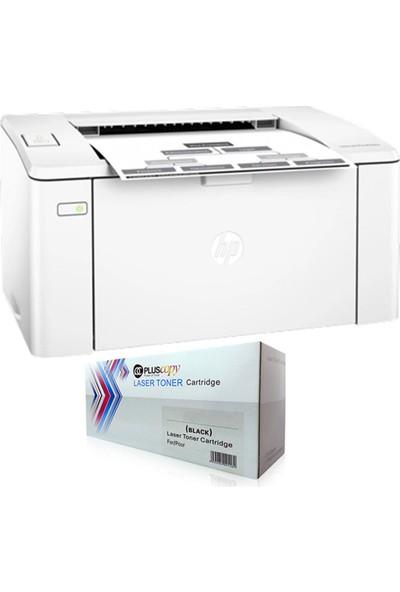 HP Laserjet Pro M102A A4 Yazıcı G3Q34A + Tam Dolu Pluscopy Toner