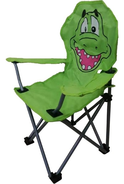 Joystar Timsah Figürlü Katlanır Çocuk Kamp Sandalyesi