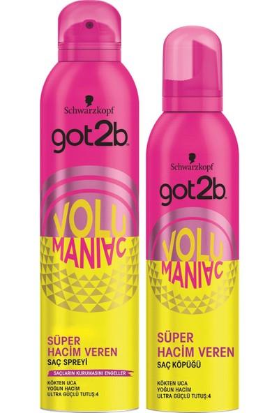 Got2B Volumaniac Sprey 300 ml+Volumaniac Köpük 250 ml