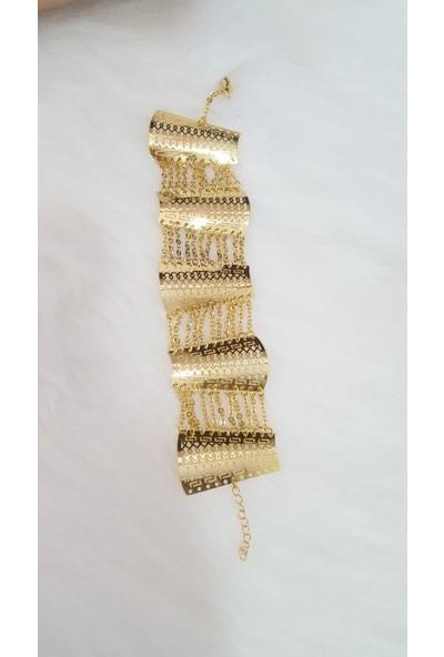 Evim Düzen Altın Kaplam Bileklik 54Ks-412