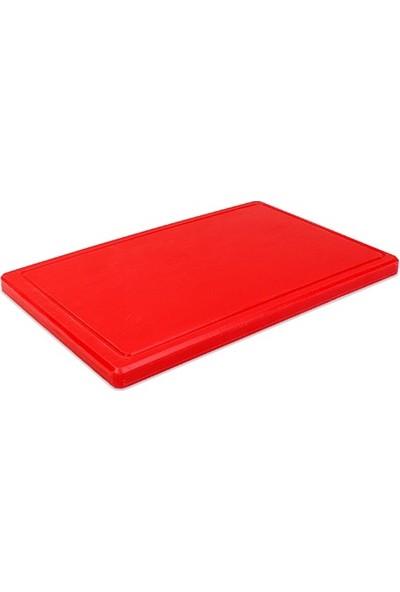 Oleotech Doğru Kesme Tahtası 2 x 25 x 40 cm Kırmızı