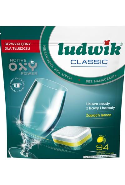 Ludwik Classic Bulaşık Makine Tableti 94 Yıkama Li̇monlu
