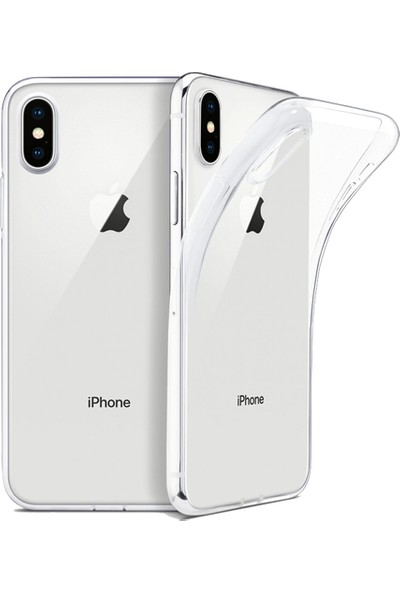 Zore Apple iPhone X/XS Kılıf Ultra Ince Silikon Arka Kapak Imax Şeffaf