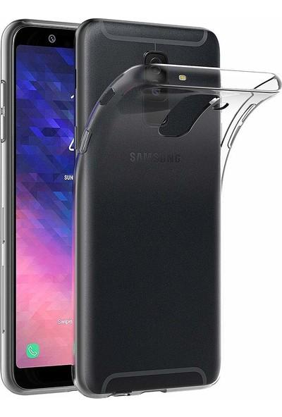 Melikzade Samsung Galaxy A6 Plus Premium Şeffaf Silikon Kılıf Lüks Arka Kapak