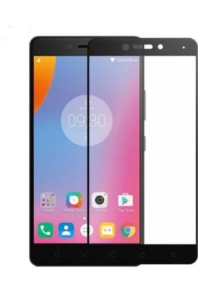Sunix Lenovo K6 Note Curved Tam Ekran Koruyucu Cam Siyah