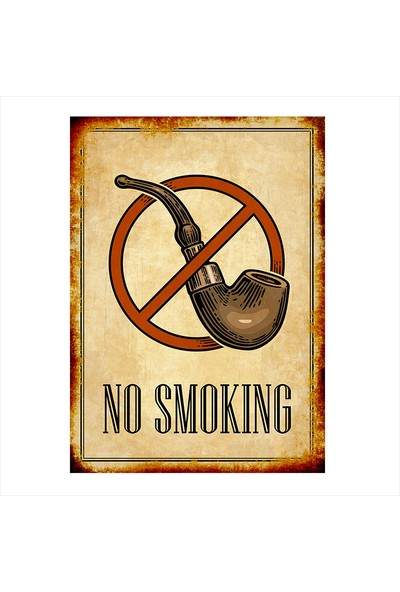 Tablomega Ahşap Tablo Sigara İçilmez