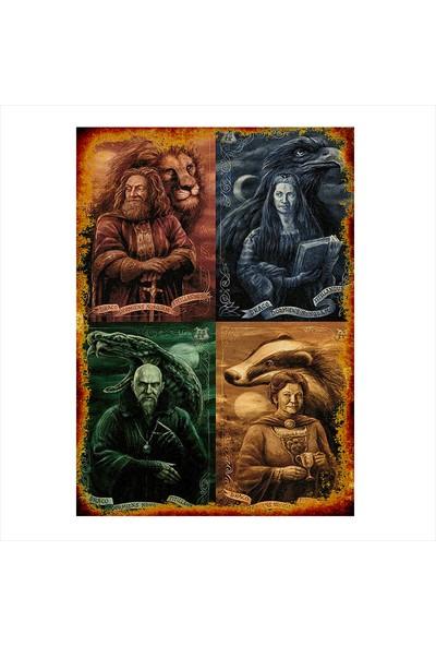 Tablomega Ahşap Tablo Harry Potter Karakterlerleri