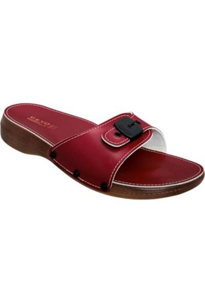 Ayakkabıbu Kırmızı Ceyo 6500 Kadın Terlik