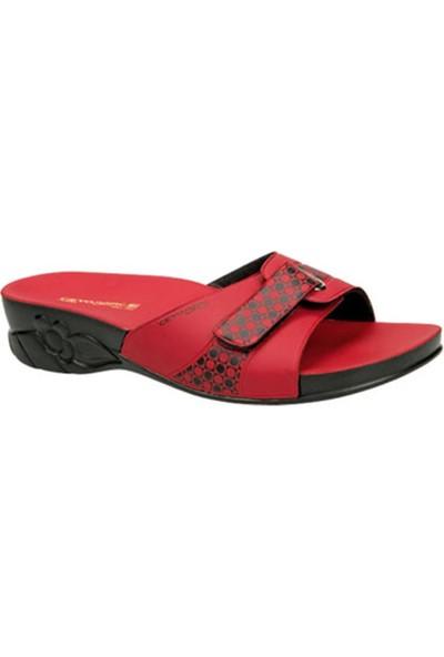 Ayakkabıbu Kırmızı Ceyo Flora Kadın Terlik