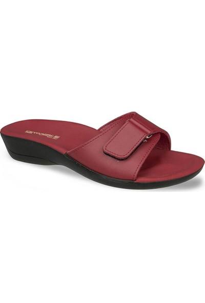 Ayakkabıbu Kırmızı Ceyo Siena 4 Kadın Terlik