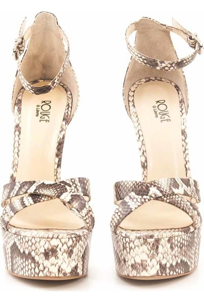 Rouge Deri Topuklu Kadın Abiye Ayakkabı 0506