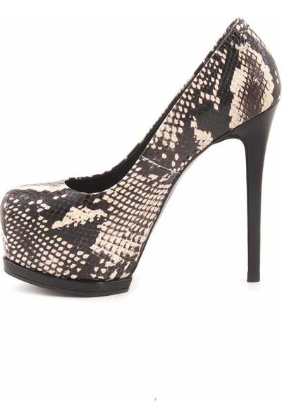 Rouge Deri Topuklu Kadın Abiye Ayakkabı 3303
