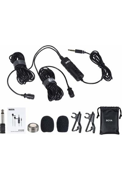 Boya BY-M1DM Çok Yönlü Ikili Yaka Mikrofonu