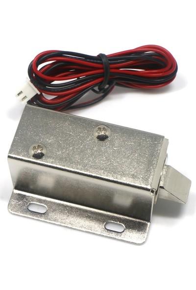 Elektronik Dolap Kapısı Kilidi Için 12V Dc Solenoit Elektromıknatıs