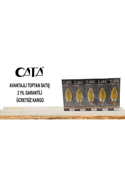 Cata CT-4280 4W E14 Rustik LED Dekoratif Buji Ampul 4'lü Paket