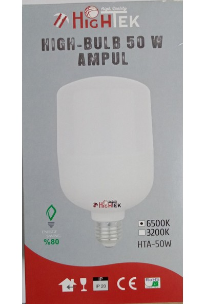 Hightek 50W E27 Duy Beyaz Işık Torch LED Ampul