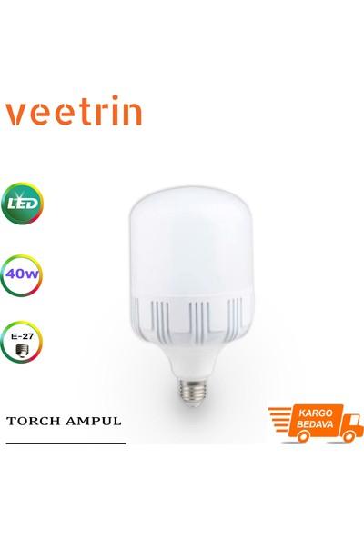 LED Bulb 40W E27 Duy Beyaz Işık Torch LED Ampul 3'lü Paket