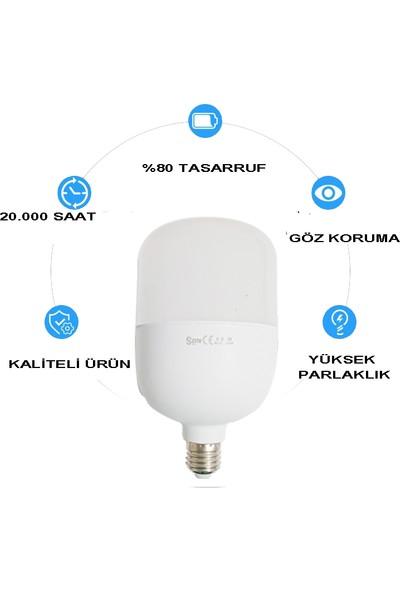 LED Bulb E27 30W Beyaz Işık Torch LED Ampul 3'lü Paket